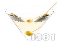 Коктейл Мартини (Martini) с джин, вермут и маслини